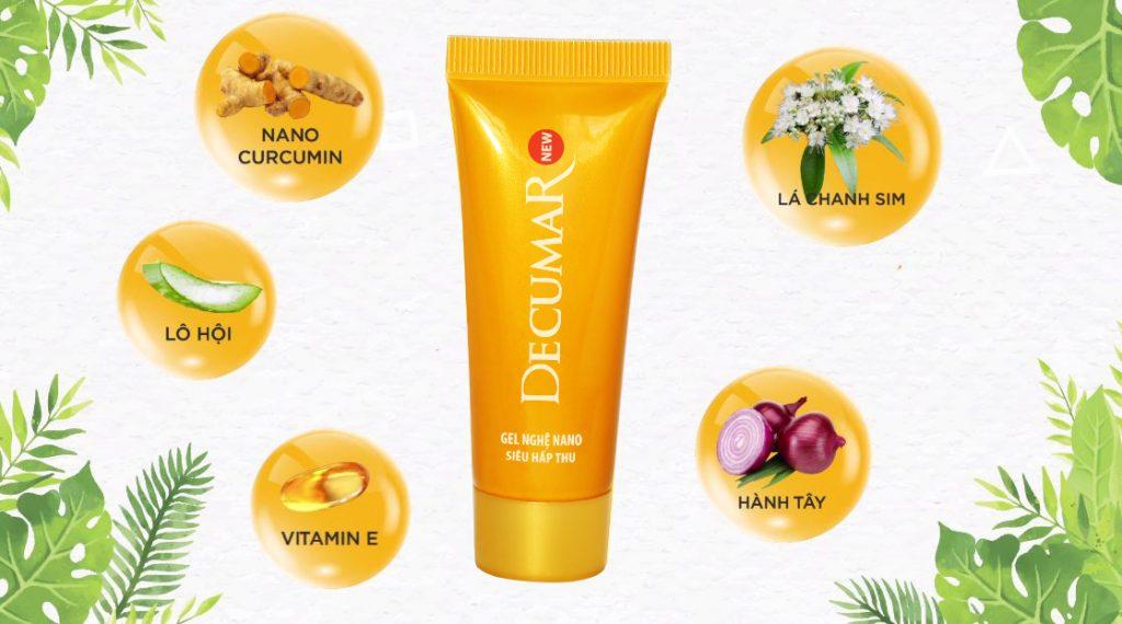 Decumar New - sản phẩm gel trị mụn và vết thâm với nguyên liệu thiên nhiên