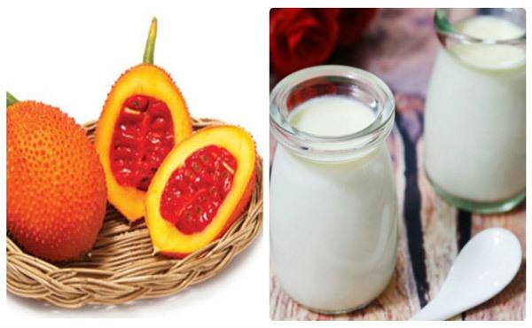 Sữa chua và dầu gấc trị mụn ẩn