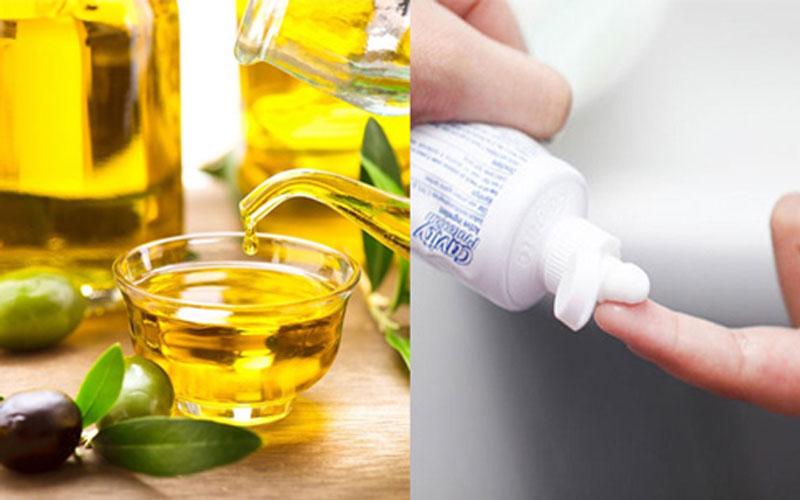 Kem đánh răng và dầu oliu