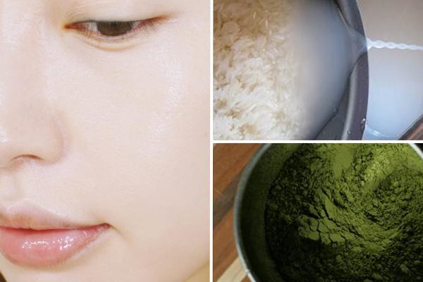 Bột trà xanh và nước vo gạo