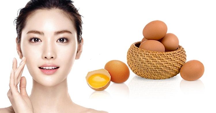 trứng gà trị mụn trứng cá