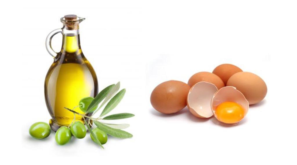 Trứng gà và dầu dừa