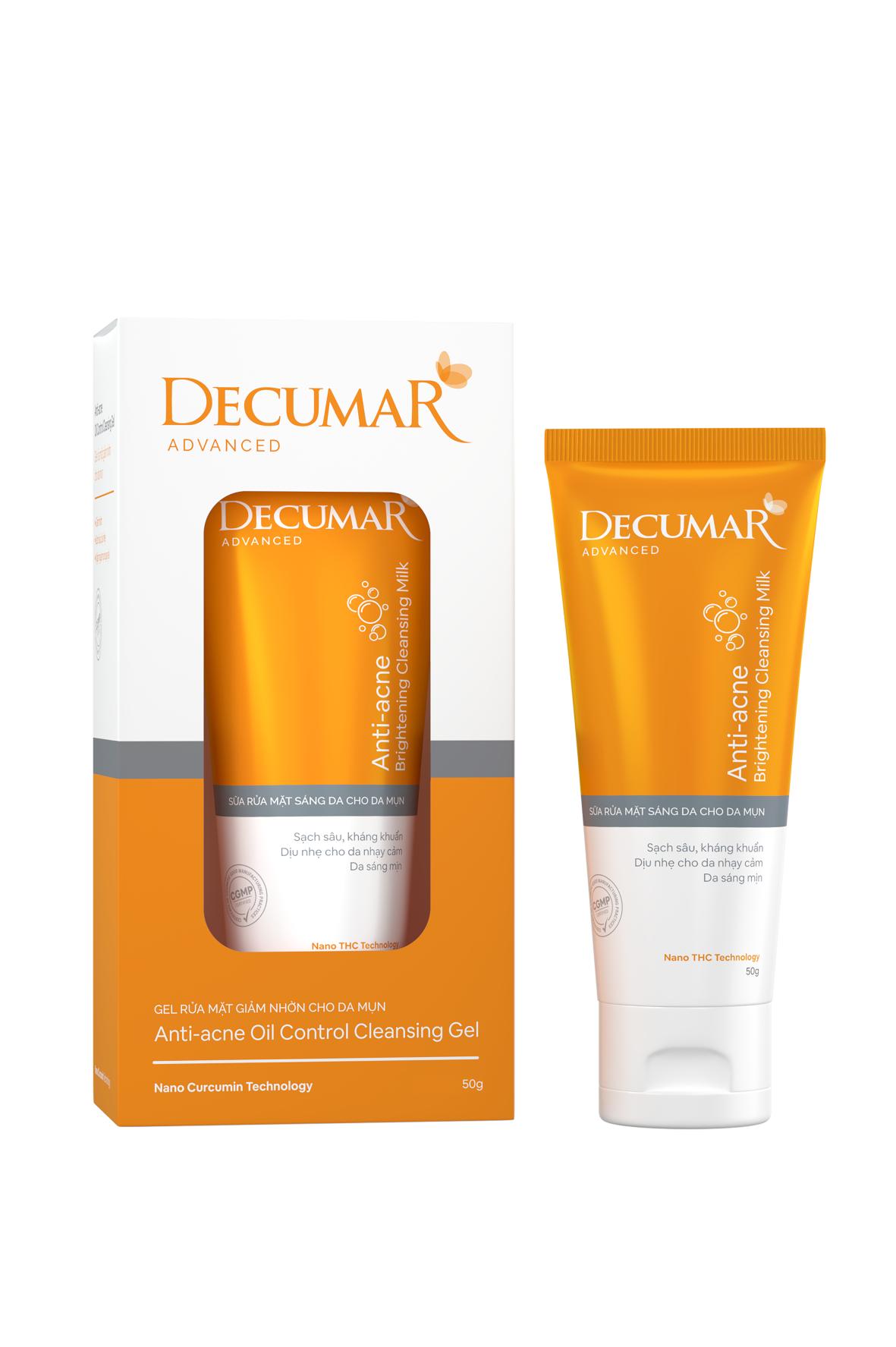 Gel rửa mặt ngừa mụn Decumar – 50g