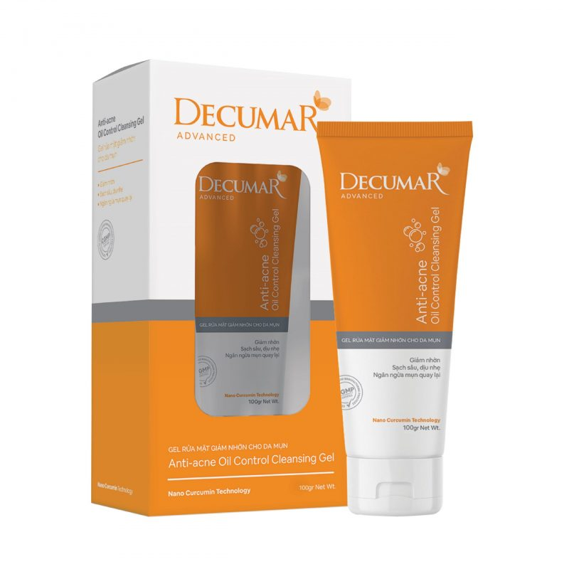 Gel rửa mặt decumar advanced 100g