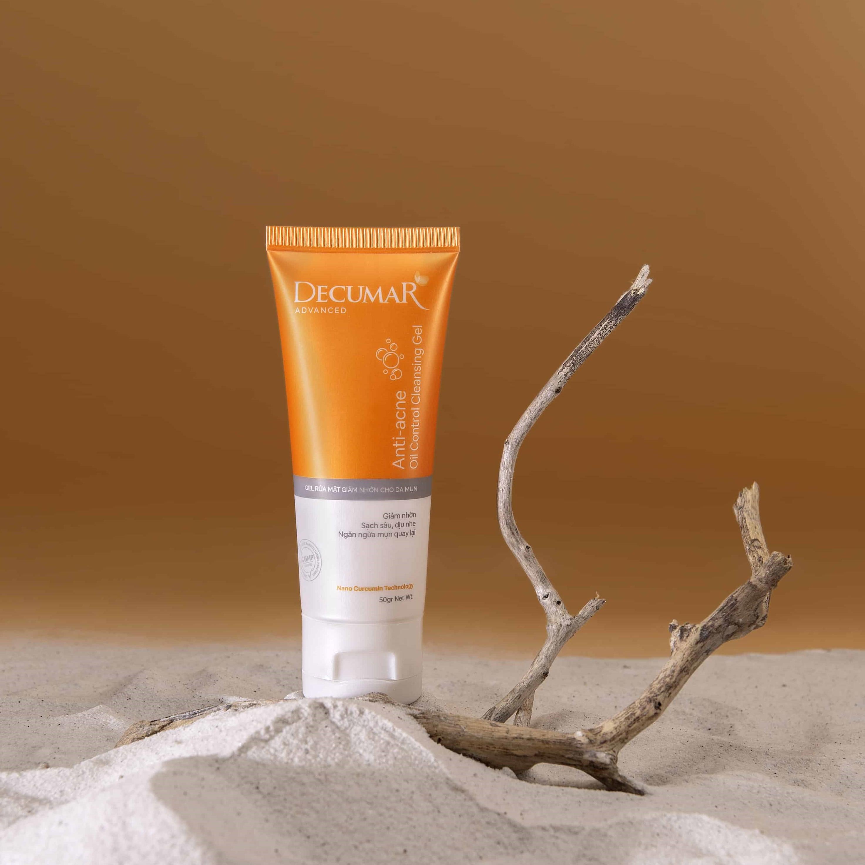 Gel rửa mặt giảm nhờn dành cho da mụn Decumar Advanced – 50g