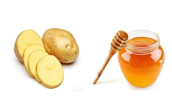 khoai tây và mật ong