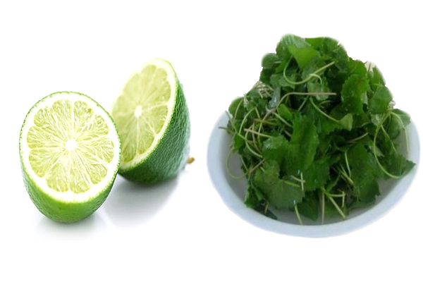 Mặt nạ trị mụn cám từ rau má và chanh