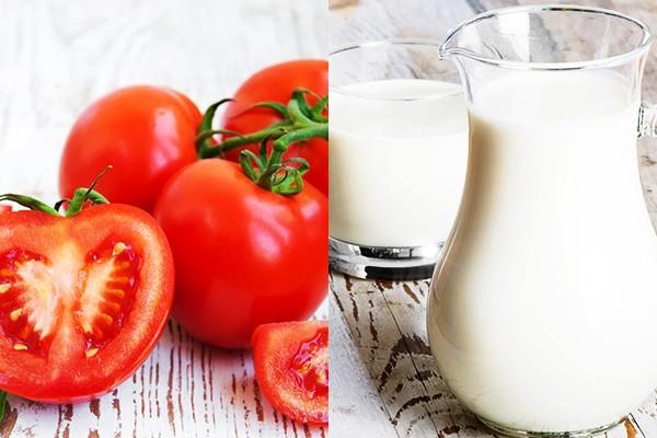 Cà chua và sữa tươi không đường