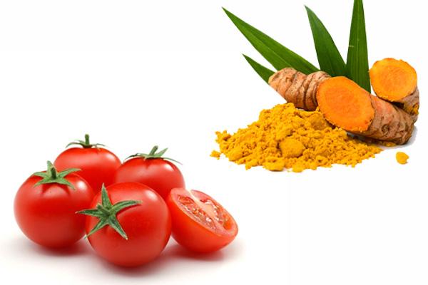 Cà chua và tinh bột nghệ