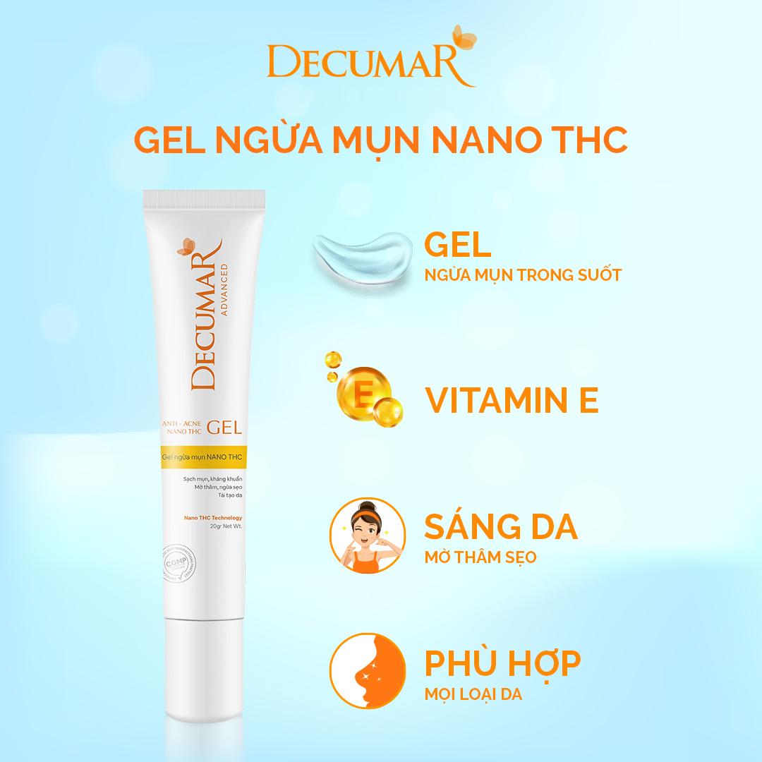 Gel ngừa mụn NANO THC (Nghệ không màu)